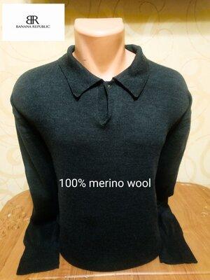 Красивый и практичный свитер из 100% мериносовой шерсти американского бренда Banana Republic, пр-во