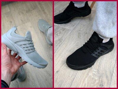 Мужские кроссовки летние чоловічі кросівки літні серые NIKE PRESTO
