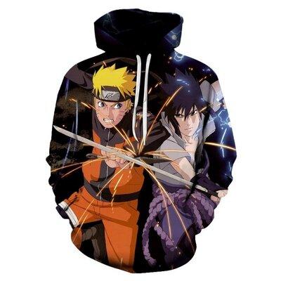 Продано: Худи Naruto с персонажами мультфильмов.