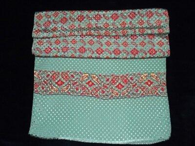 Мужской шарф кашне, шелк-жаккард, 39х122