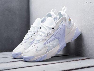 Кожаные мужские кроссовки Nike Zoom 2K белые KS 1120