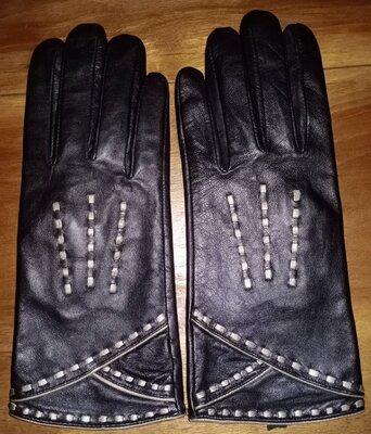Кожаные, демисезонные перчатки Marks & Spencer