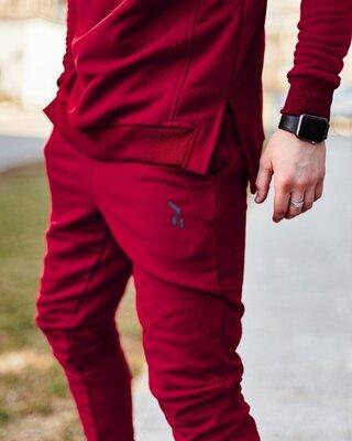 Cпортивные штаны Пушка Огонь Jog бордовые.