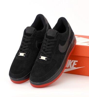 Мужские кроссовки Nike Lab Air Force 1 Low. Black Red