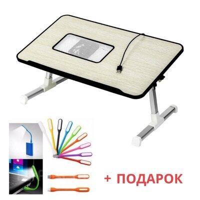 Столик для ноутбука раскладной Leptop Desk А8 подставка с охлаждением