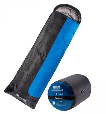 Спальний мішок Martes Ourens 220 Чорний з cинім MTS-OURENS-BLUE