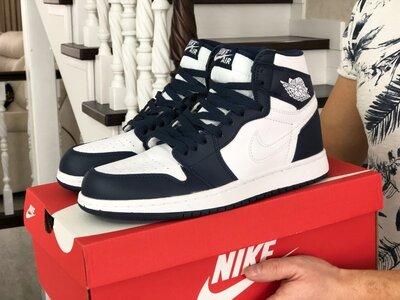 Кроссовки мужские Nike Air Jordan , белые с синим 41-46р