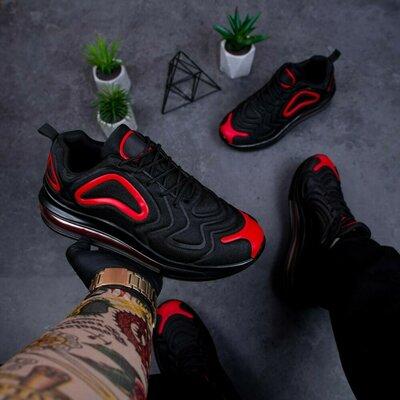 Кросівки чоловічі Бастер Арт 720 чорно-червоні