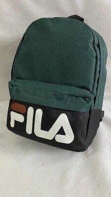 Спортивный тканевый рюкзак зеленый в стиле Fila