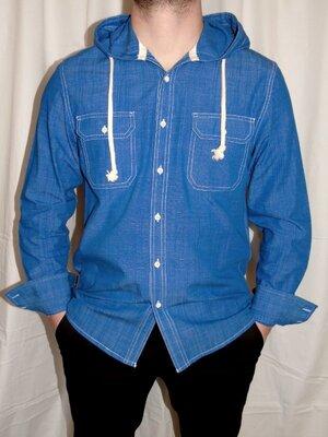 Продано: Шикарная рубашка с капюшоном - L - M