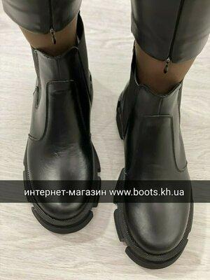 Продано: Жіночі шкіряні чобітки демисезонные женские кожаные ботинки челси