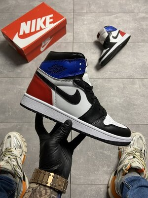 Мужские Кроссовки Nike Air Jordan 1 OG SP White Blue Red AAA 40-41-42-43-44-45