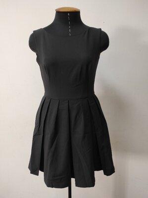 Платье-Безрукавка из тиара с пышной юбкой Черное