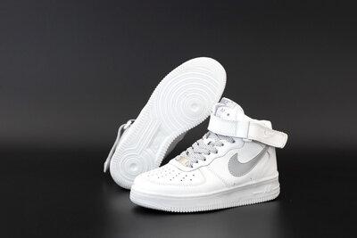 Мужские кроссовки Nike Air Force. Белые.