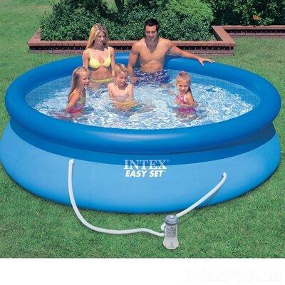Надувний басейн Intex 28108, 244 х 61 см фільтр насос 1 250 л / ч