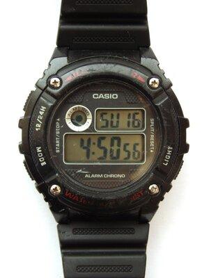 Casio W-216H ILLUMINATOR мужские часы WR5ATM секундомер