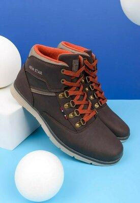 Продано: Мужские коричневые ботинки весна осень