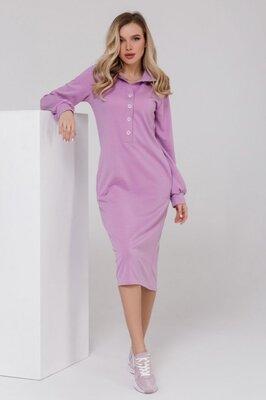 Трикотажное платье с карманами расцветки