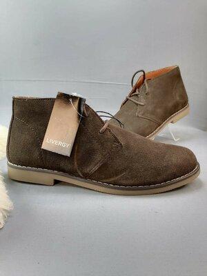 замшевые мужские ботинки Livergy р.43,45