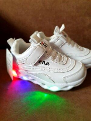 Продано: Белые кроссовки с лэд подстветкой