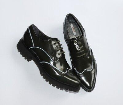 Брендовые туфли броги geox respira натуральная кожа италия этикетка
