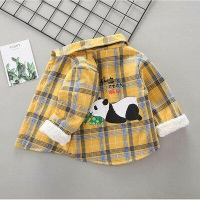 Утеплена сорочка Панда жовта