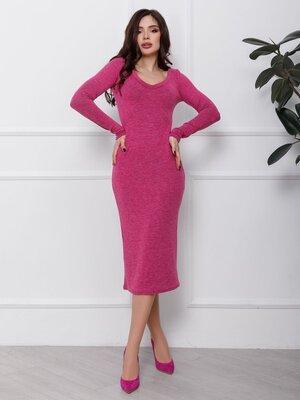 Продано: Ангоровое прямое платье И 12436