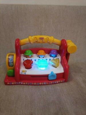 Продано: Обучающий интерактивный игровой центр стучалка с молоточком инструменты fisher price фишер прайс