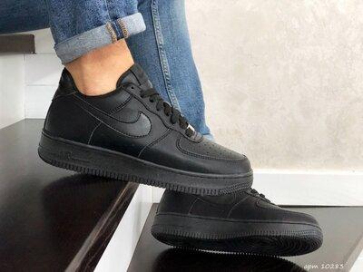Nike Air Force Af 1 кроссовки мужские демисезонные черные 10283