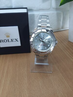 Мужские часы реплика Rolex Oyster Perpetual Ролекс Silver