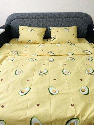 Стильный, красивый постельный комплект Авокадо , Ранфорс.