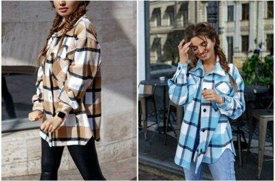 Рубашка куртка кашемир 2 цвета 42 - 48