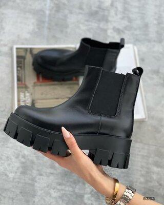 Кожаные удобные ботинки