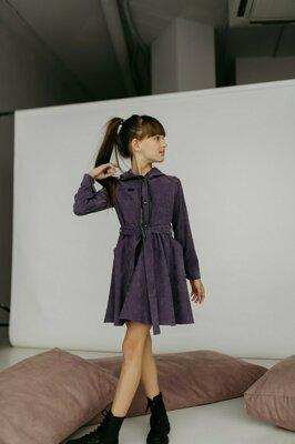 Платье для девочки с капюшоном