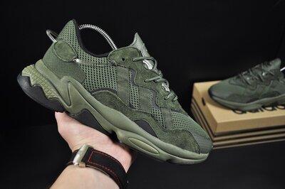 Кроссовки мужские Adidas Ozweego , темно зеленые