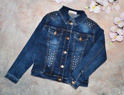 Джинсовая куртка на девочку, пиджак джинсовый для девочки