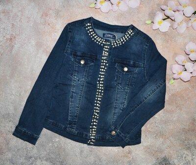 Джинсовая куртка на девочку, джинсовый пиджак на девочку