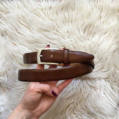Натур. кожаный коричневый ремень 97-107 см