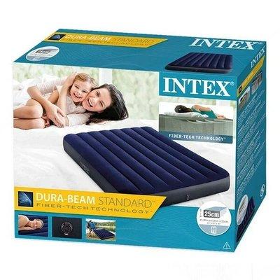 Надувной матрас кровать полуторный Intex 64758 137 191 25 см Интекс.