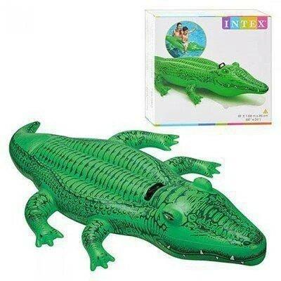 Надувной плот Intex, 58546 Крокодил 168 86 см Интекс.