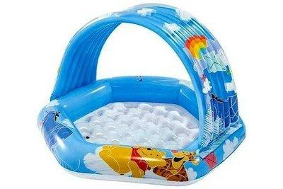 Бассейн надувной для малышей от 1-го до 3-х лет Intex 58415 NP с навесом от солнца объем 41 литр .