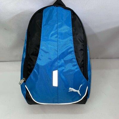 Спортивный тканевый рюкзак голубой черный серый синий