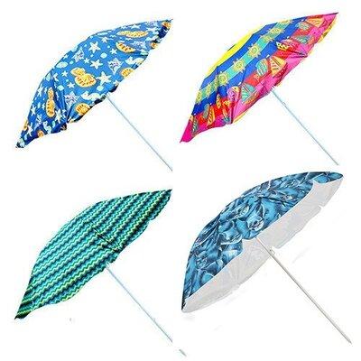 Зонт пляжный серебро STENSON 2.2 м 1096