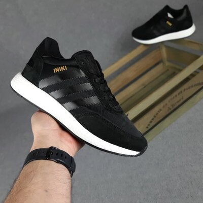 Кроссовки Adidas INIKI, черные, 10409