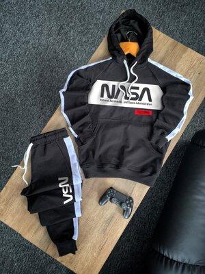 Мужской весенний спортивный костюм Наса. Худи штаны. Топ-Качество