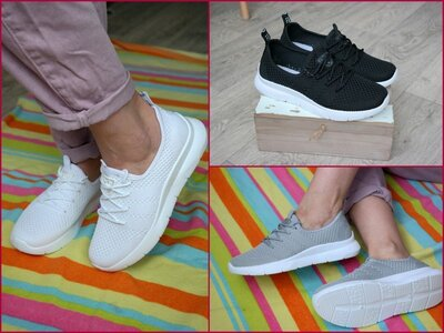 Женские черные белые серые кроссовки Жіночі сірі білі чорні кросівки