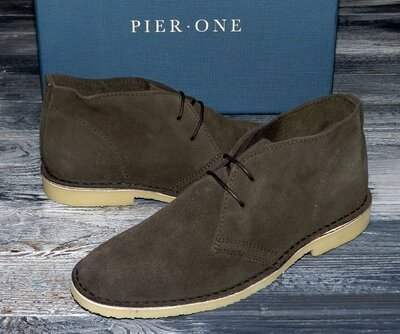 Мужские оригинальные, кожаные невероятно крутые ботинки Pier One