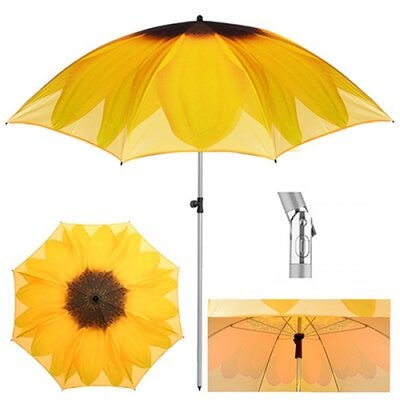 Зонт пляжный Подсолнух d2м наклон MH-3371-10