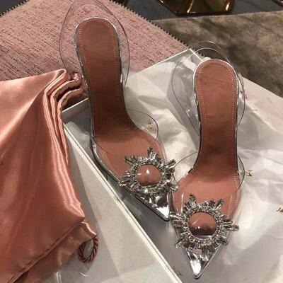 Женские туфли, босоножки прозрачные Amina Muaddi