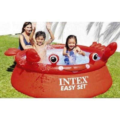 Дитячий надувний басейн Intex 26100 Веселий Краб 183Х51см
